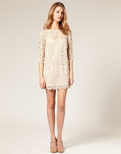 Gorgeous cream lace shift dress! Think my brides would hate me if I showed up to shoot their wedding in cream lace? Yeah, probs.