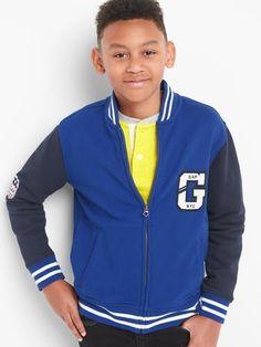 7c2fa5e2d GAP Boys Logo Varsity Jacket