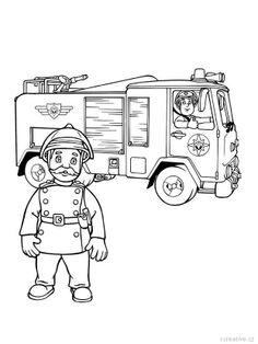 Feuerwehr ausmalbilder gratis mausi pinterest - Feuerwehr bilder kinderzimmer ...