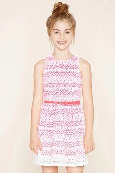 Girls Belted Lace Dress (Kids) #f21kids