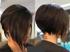 Graduation-Layered-Short-Bob Latest Bob Haircuts for 2018 Latest Bob Haircuts for 2018 - Recently we have a hairstyle that we love to see every day: bob hairstyle. If you like young and dynamic hair models Asymmetrical Bob Haircuts, Short Bob Haircuts, 2018 Haircuts, Braid Hairstyles, Hairstyles Haircuts, Short Hair Cuts, Short Hair Styles, Bobs For Thin Hair, Pixie Haircut