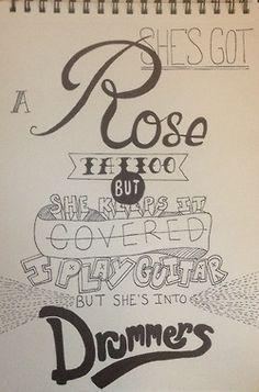 5 Seconds Of Summer: Try Hard Lyrics Art!
