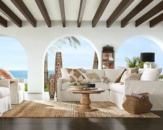 SPANISH COLONIAL REVAMP: relaxing #outdoor living area with exposed beams and open archways