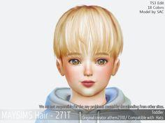 Cute Toddler Mushroom Hair for The Sims 4 Toddler Cc Sims 4, Toddler Hair, Mushroom Hair, The Sims 4 Cabelos, Sims Packs, Pelo Sims, Sims 4 Children, Kpop Hair, Sims Hair