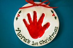 Christmas baby ornament