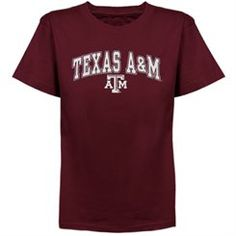 Texas A&M Aggies Youth Arched University T-Shirt - Maroon
