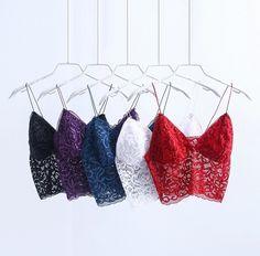"""""""Lust"""" lace bralettes- 5 colours"""