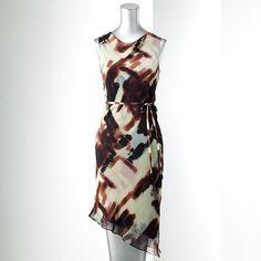 Simply Vera Vera Wang Watercolor Chiffon Dress - Petite - Khols $27.20