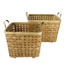 Yunnan Bamboo Basket Natural (Set of 2) from FROY