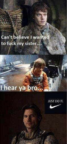 Game of Thrones, Season 3 Memes (pics) - Star Wars! American Horror Story, Game Of Throne Lustig, Mega Series, Tv Series, Film Star Wars, Game Of Thrones Funny, Game Thrones, Got Memes, Nerd Memes