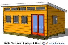 Amazing Shed Plans - modern shed plans - office shed - Now You Can Build ANY Shed In A Weekend Even If You've Zero Woodworking Experience! Start building amazing sheds the easier way with a collection of shed plans! 12x20 Shed Plans, Diy Shed Plans, Storage Shed Plans, Building A Shed Roof, Studio Shed, Garden Studio, Build Your Own Shed, Modern Shed, Shed Design
