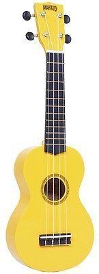 Mahalo Rainbow Series Soprano Ukulele Yellow Includes Carrying Case