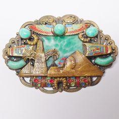Rare Max Neiger Czech Egyptian Revival Brooch -$575