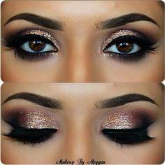 Glitzer-Augen make up