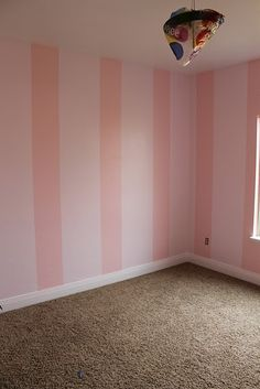 ideas baby girl nursery blue and pink striped walls Pink Striped Walls, Pink Accent Walls, Striped Room, Accent Wall Bedroom, Pink Stripes, Wall Stripes, Shabby Bedroom, Girls Bedroom, Bedroom Decor