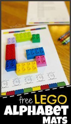 Make learning your ABCs fun with these hands-on FREE printable Duplo Alphabet Mats for building letters and tracing letters too. There is a page for each letter A to Z. Letter Activities, Kids Learning Activities, Hands On Activities, Educational Activities, Preschool Activities, Teaching The Alphabet, Learning Letters, Teaching Kids, Alphabet Games