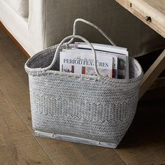 Christmas gift idea, our handcrafted Bamboo Design Magazine Basket