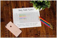 Daily Habit Tracker: A Printable Goal Tracker