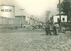 1940 - Rua do Bosque no bairro da Barra Funda.