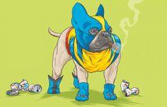 Perros-Marvel por Josh Lynch