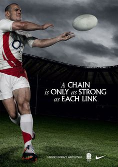 England Rugby 2008 – History doesn't write itself by Mark Fleming, via Behance