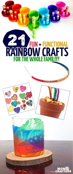 Check out these rainbow craft ideas for kids, teens and adults. Rainbow Crafts are easy and great as gifts or home decor.
