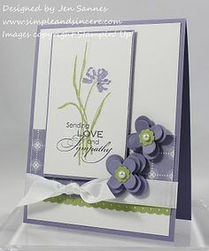Beautiful card, change up the stamp and would also be a nice spring or Easter card.