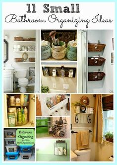 See how you can maximize your bathroom storage with these 11 small bathroom organizing ideas!