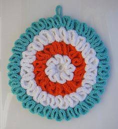 Ruffled Crochet Potholder