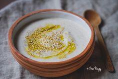 Pirított szezámmagos joghurt szósz Vegan, Cooking, Food, Yogurt, Kitchen, Essen, Meals, Vegans, Yemek