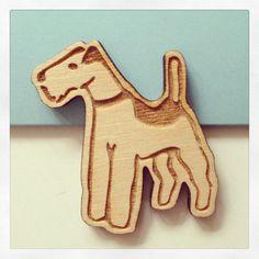 Wooden Terrier Brooch. Laser Cut, Dog Brooch, Dog Jewellery Jewelry on Etsy, $15.00