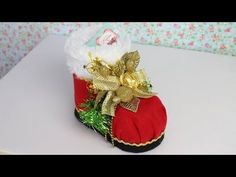Waldineia Santos shared a video Dyi Crafts, Holiday Crafts, Sewing Crafts, Crafts For Kids, Christmas Shoes, Christmas Angels, Christmas Stockings, Origami Christmas Ornament, Christmas Ornaments