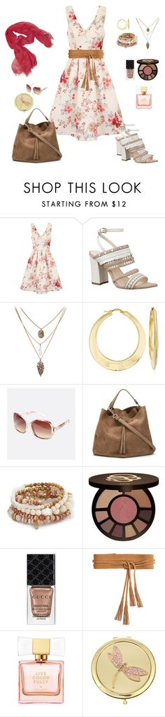 """""""chic fashion"""" by karen-powell ❤ liked on Polyvore featuring Chi Chi, Nine West, Ross-Simons, Avenue, Maison Margiela, Lacey Ryan, tarte, Gucci, Linea Pelle and Kate Spade"""