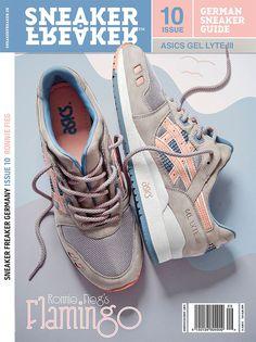 ronniefieg: Mi próximo lanzamiento, el Flamingo Asics Gel Lyte III en la portada de la zapatilla de deporte Freaker Alemania