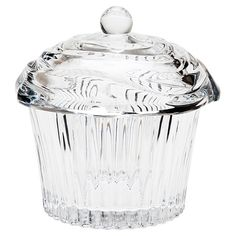 Cupcake-inspired crystal glass box with lid