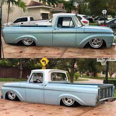 A Brief History Of Ford Trucks – Best Worst Car Insurance Bagged Trucks, Lowered Trucks, Ford Pickup Trucks, Hot Rod Trucks, Cool Trucks, Cool Cars, 1965 Ford F100, F100 Truck, Classic Ford Trucks