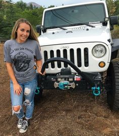 girls first choice jeep wrangler Jeep Baby, Jeep 4x4, Jeep Truck, Dodge Trucks, Lifted Trucks, Pickup Trucks, White Jeep, Badass Jeep, Jeep Wrangler Unlimited