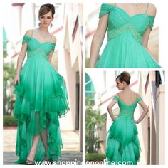 Green Evening Gown - Modern Off Shoulder $248.99 (was $295) Click here to see more details http://shoppingononline.com/custom-made-dresses/green-evening-gown-modern-off-shoulder.html #GreenEveningGown #OffShoulderEveningGown #GreenDress #CustomMadeDress