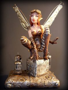 new Steampunk Fairy - POTTERY, CERAMICS, POLYMER CLAY- Knitting, sewing, crochet, tutorials, children crafts, papercraft, jewlery, needlework, swaps, cooking and so much more on Craftster.org