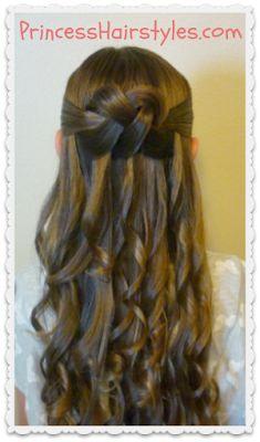 Woven Knot Half Updo | Princesshairstyles.com