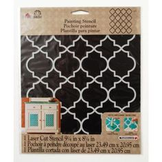 FolkArt® Moroccan Tile Painting Stencils are detailed, laser cut stencils perfect for a variety of craft projects. Stencil sheet measures x inches.