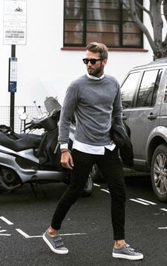 Men's Street Style - Black, White and Grey