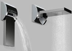 Aquavolo Duetto Shower by Bossini  (This may be too sharp and straight for me - thinking about it)