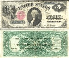 US 1 Dollar Note     Series 1880     Serial# A2951399     Signatures: Rosecrans…