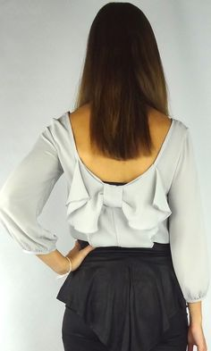 Bow Back Blouse - from HCB :). Paired with the cutest peplum skirt