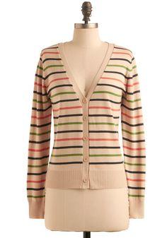 Simplicity in Stripes Cardigan