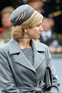 Today queen Máxima wore  pieces of the  of the Ears of Wheat Tiara in her hat, during the ceremony of the Military Order of William.