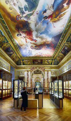 Painted ceiling by Laurent photography, via Flickr
