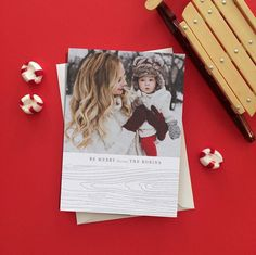 Birch Band Letterpress Holiday Photo Cards by Baum. New Year Greeting Cards, New Year Greetings, Wrapping Paper Design, Tiny Prints, Holiday Photo Cards, Rustic Charm, Love Photography, Letterpress, Birch
