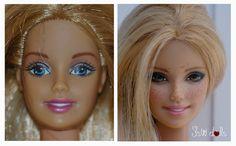Doll Face Paint, Doll Painting, Custom Barbie, Custom Dolls, Doll Repaint Tutorial, Doll Tutorial, Vintage Barbie, Barbie Chelsea Doll, Muñeca Diy
